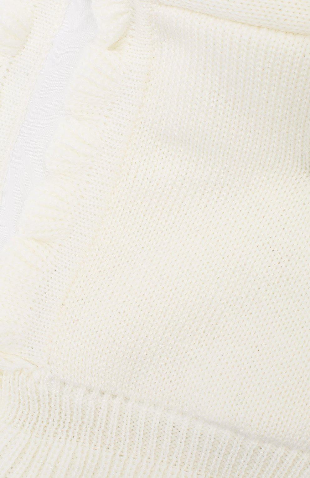 Детского шерстяная шапка-балаклава CATYA белого цвета, арт. 923608/4DJ | Фото 3