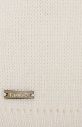 Детского шерстяная шапка-балаклава IL TRENINO белого цвета, арт. 19 6801/LQ | Фото 3