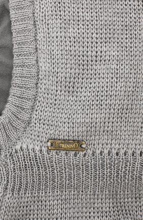 Детского шерстяная шапка-балаклава IL TRENINO серого цвета, арт. 19 6801/LP | Фото 3 (Материал: Шерсть; Статус проверки: Проверено)