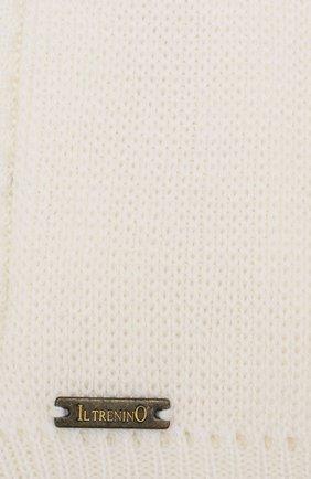 Детского шерстяная шапка-балаклава IL TRENINO белого цвета, арт. 19 6801/LP   Фото 3