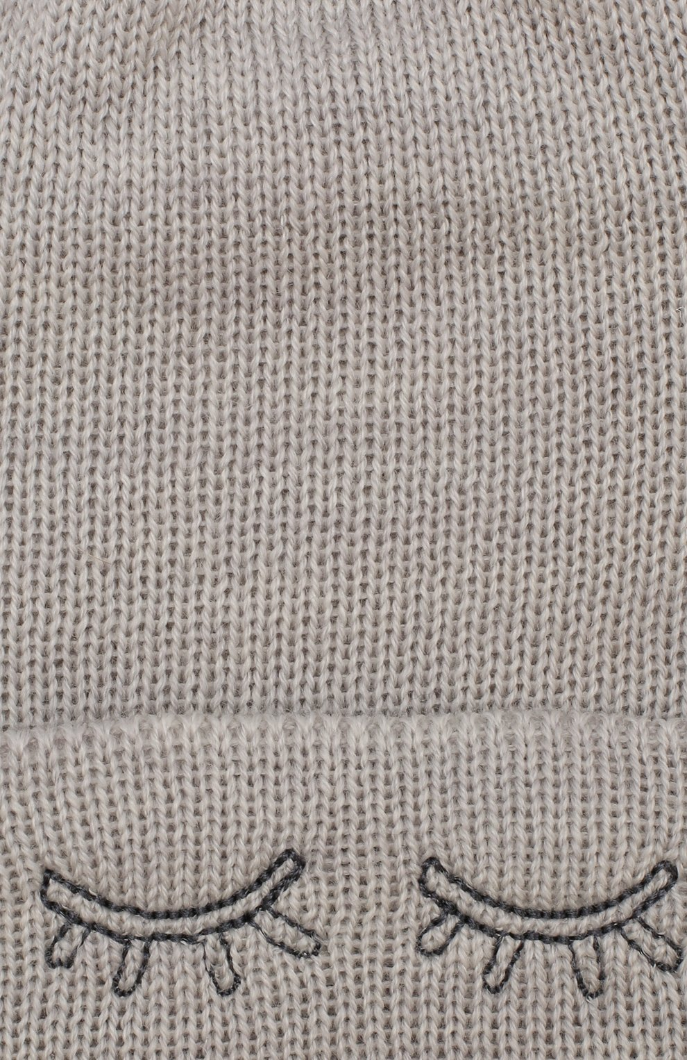 Детского шерстяная шапка IL TRENINO светло-серого цвета, арт. 19 6440/E0   Фото 3