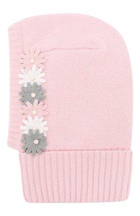 Детского шапка-балаклава из шерсти и кашемира IL TRENINO светло-розового цвета, арт. 19 6349/E0 | Фото 2