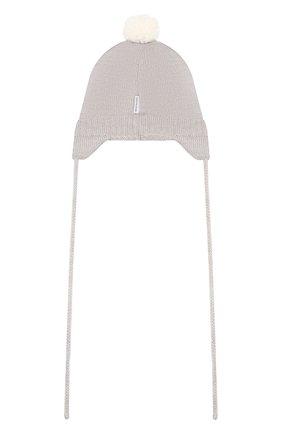 Детского шерстяная шапка IL TRENINO светло-серого цвета, арт. 19 5813/FM | Фото 2