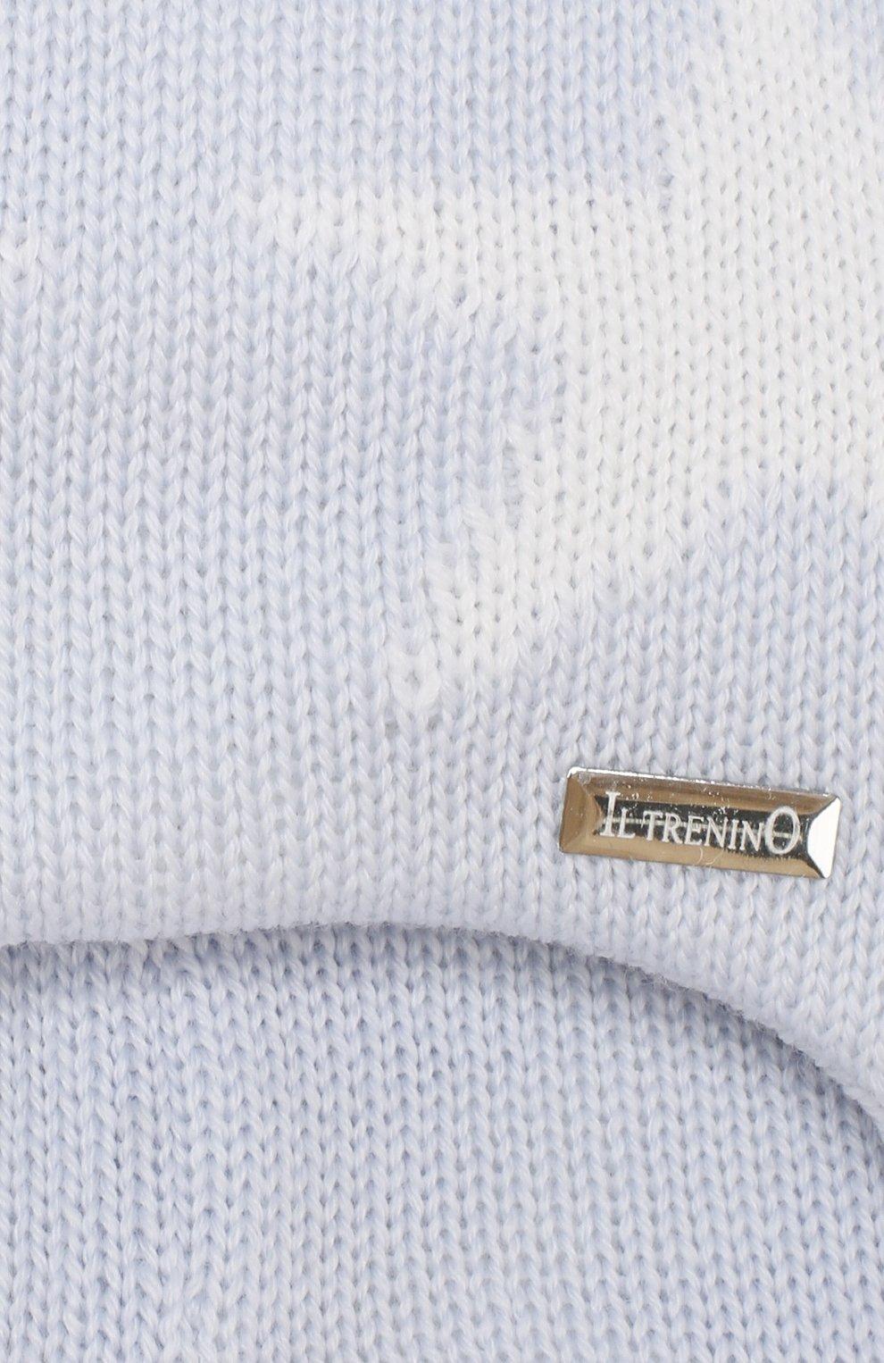 Детского шерстяная шапка IL TRENINO голубого цвета, арт. 19 5804/E0 | Фото 3