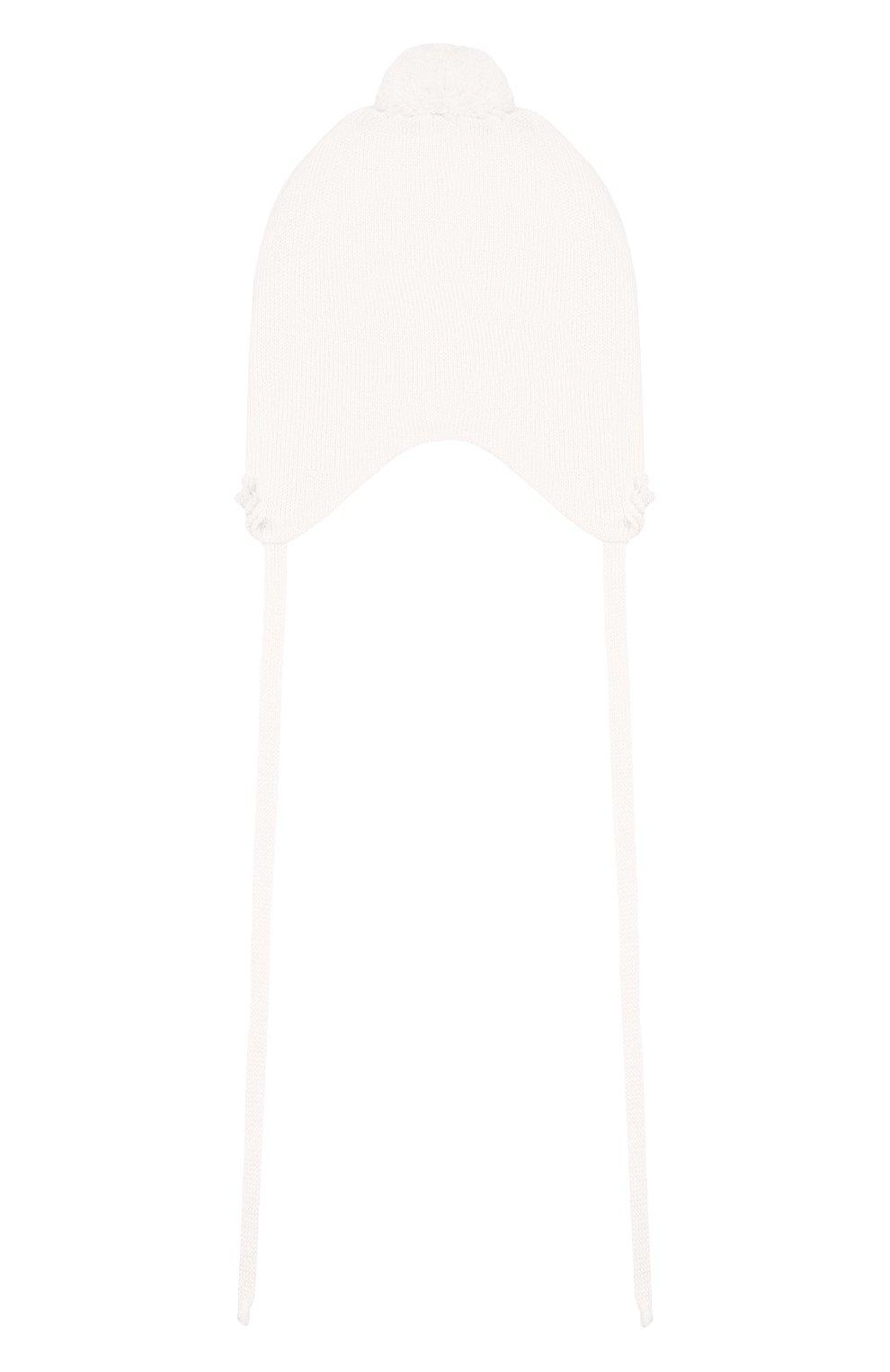 Детского шерстяная шапка IL TRENINO белого цвета, арт. 19 5756/E0 | Фото 2