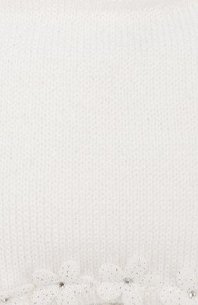 Детского шерстяная шапка IL TRENINO белого цвета, арт. 19 5756/E0 | Фото 3