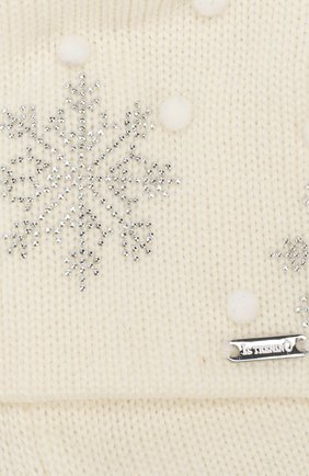 Детского шерстяная шапка IL TRENINO кремвого цвета, арт. 19 5718/E7   Фото 3