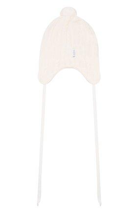 Детского шерстяная шапка IL TRENINO белого цвета, арт. 19 5701/E0 | Фото 2