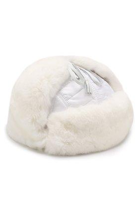 Детского шерстяная шапка-ушанка с меховой отделкой IL TRENINO белого цвета, арт. 18 7433/E0 | Фото 1