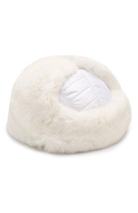 Детского шерстяная шапка-ушанка с меховой отделкой IL TRENINO белого цвета, арт. 18 7433/E0 | Фото 2