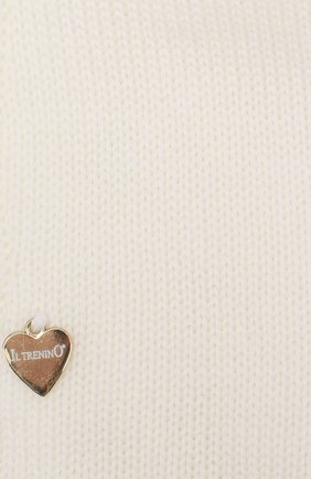 Детского шерстяная шапка-балаклава IL TRENINO белого цвета, арт. 18 4115/E0 | Фото 3