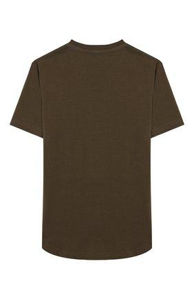 Детская хлопковая футболка DSQUARED2 хаки цвета, арт. DQ02M8-D00MR | Фото 2