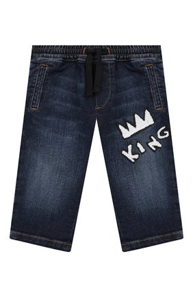 Детские джинсы DOLCE & GABBANA синего цвета, арт. L13P02/LD856 | Фото 1