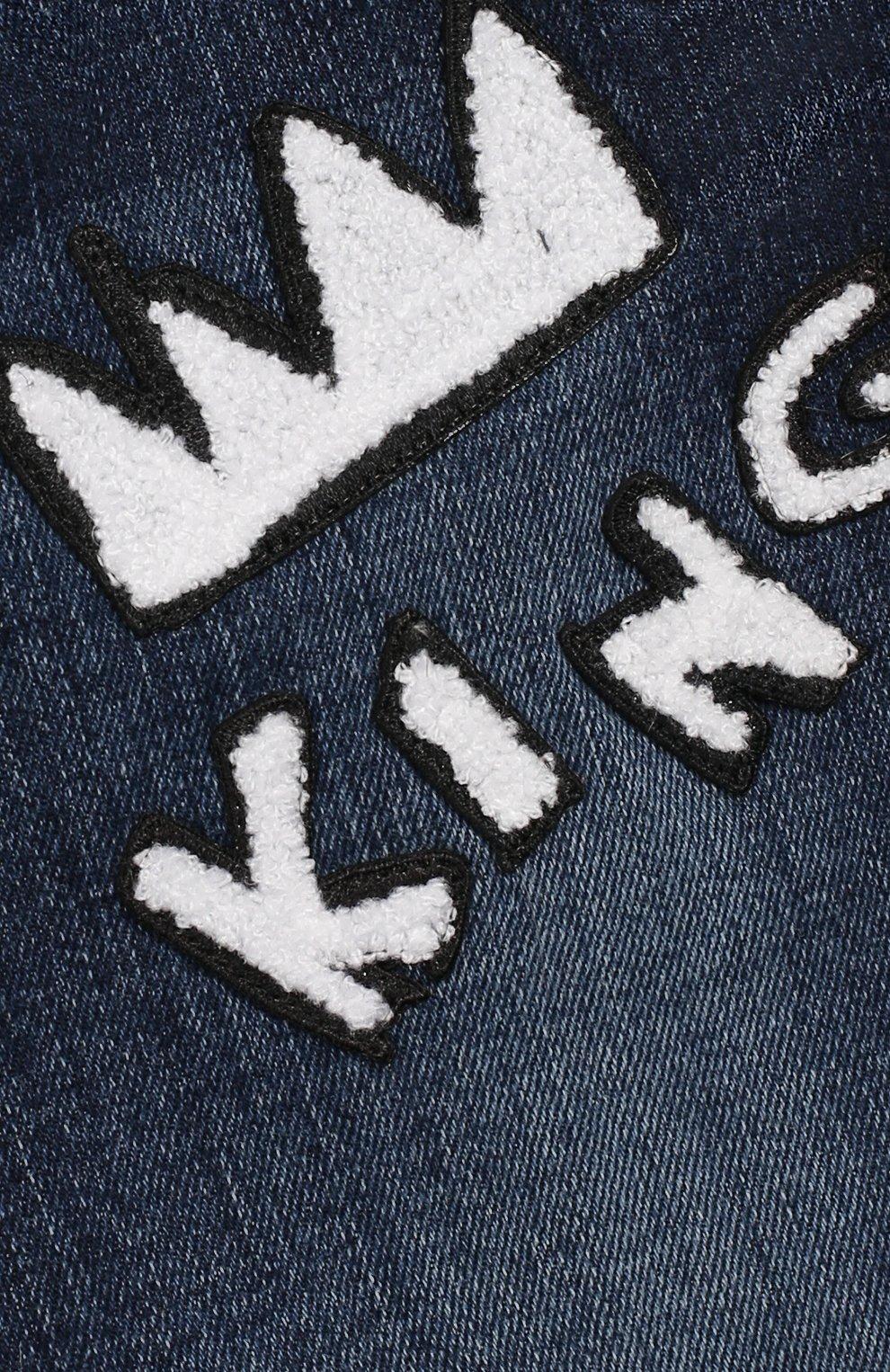 Детские джинсы DOLCE & GABBANA синего цвета, арт. L13P02/LD856 | Фото 3