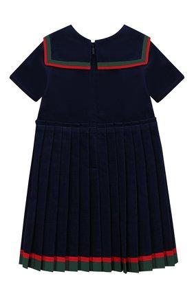 Женский хлопковое платье GUCCI синего цвета, арт. 572541/ZABWX | Фото 2