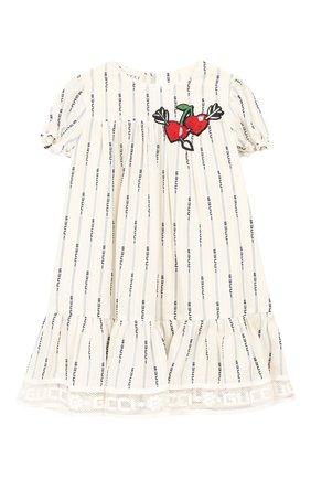 Женский хлопковое платье GUCCI белого цвета, арт. 572533/ZAB8I | Фото 1