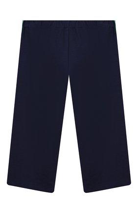 Детского брюки из вискозы GUCCI синего цвета, арт. 571378/XJBEC | Фото 2