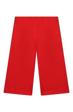 Детского брюки из вискозы GUCCI красного цвета, арт. 571378/XJBEC | Фото 2