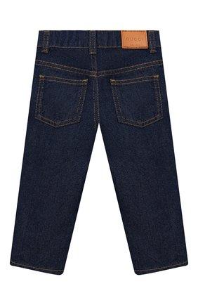 Детские джинсы GUCCI синего цвета, арт. 566095/XDAN2 | Фото 2