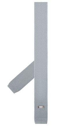 Детский шелковый галстук EMPORIO ARMANI голубого цвета, арт. 409526/9A950 | Фото 2