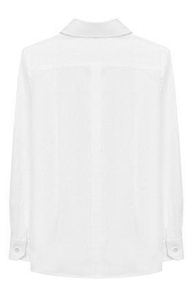 Детская хлопковая рубашка DOLCE & GABBANA белого цвета, арт. L42S97/FU5K9/2-6 | Фото 2