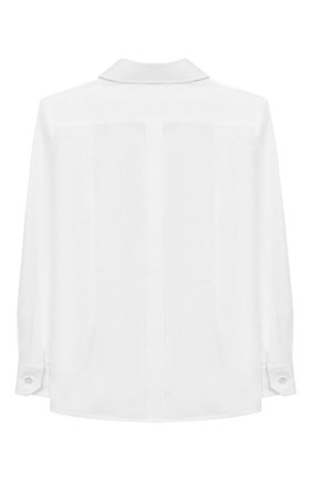 Детская хлопковая рубашка DOLCE & GABBANA белого цвета, арт. L42S97/FU5K9/8-14 | Фото 2