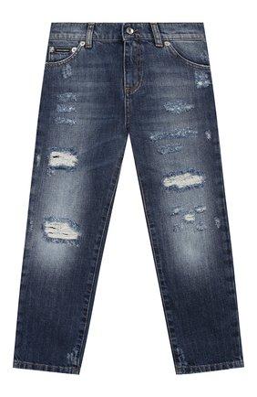 Детские джинсы DOLCE & GABBANA синего цвета, арт. L42F23/LD834/2-6   Фото 1