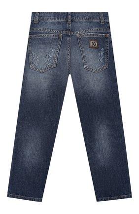 Детские джинсы DOLCE & GABBANA синего цвета, арт. L42F23/LD834/2-6   Фото 2