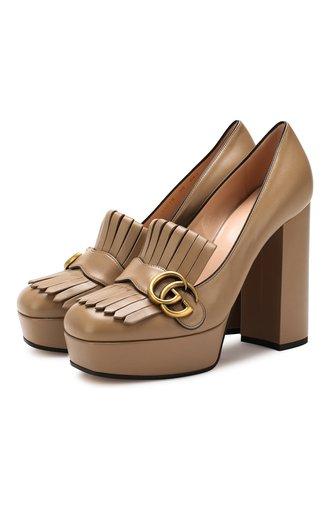 Кожаные туфли GG Marmont