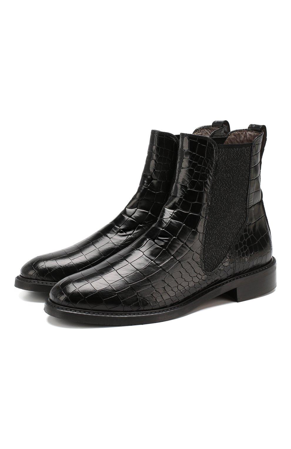 Женские кожаные челси PERTINI черного цвета, арт. 192W16405D1   Фото 1