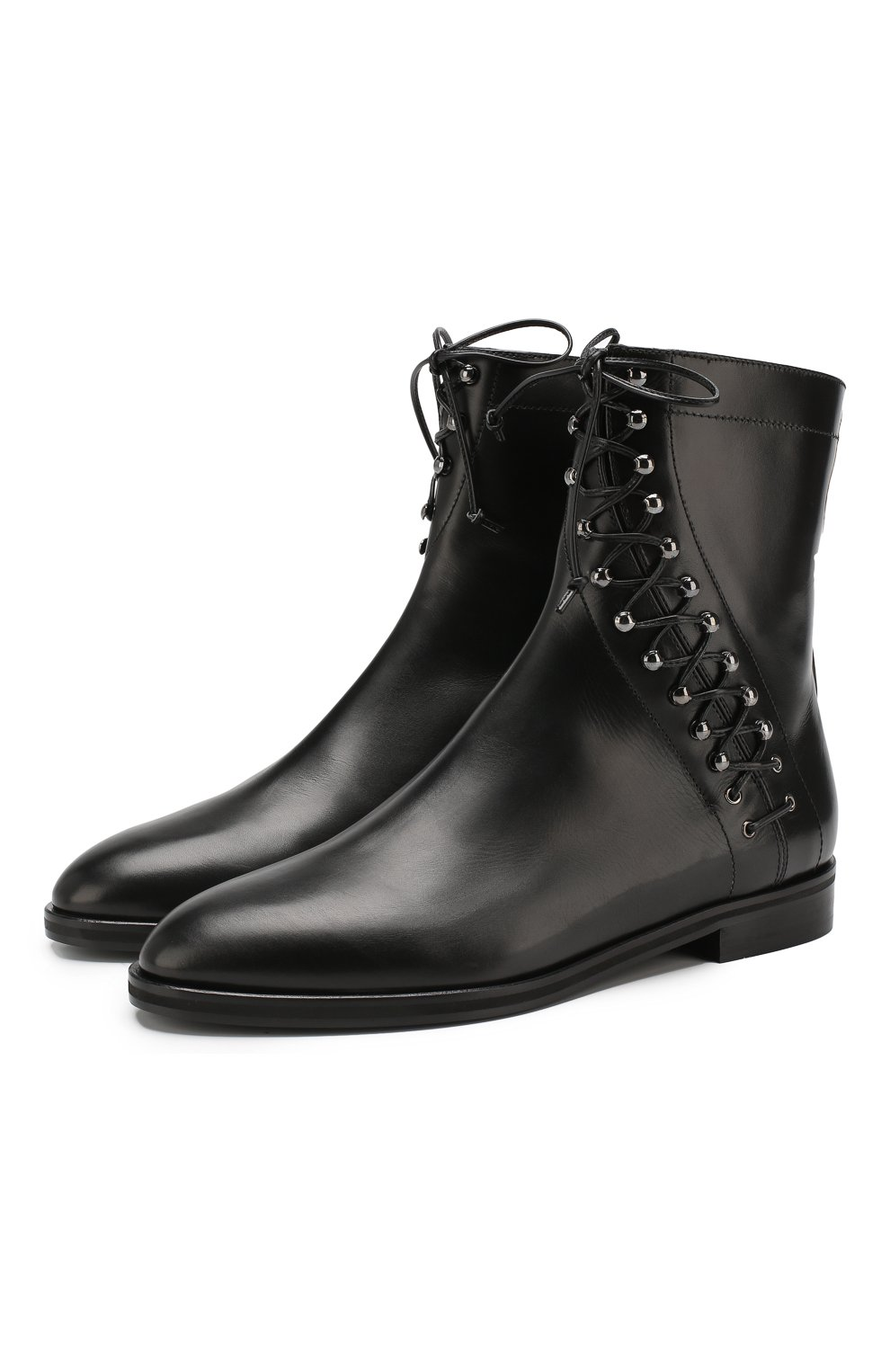 Женские кожаные ботинки ALAIA черного цвета, арт. 9W3T068CL25 | Фото 1