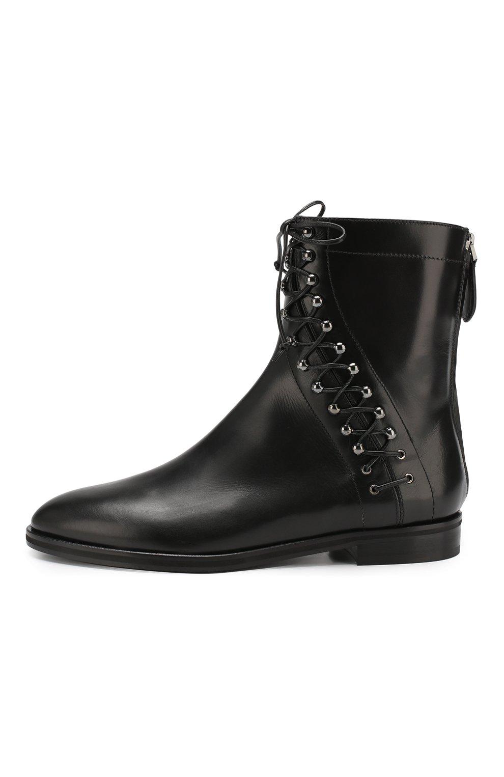 Женские кожаные ботинки ALAIA черного цвета, арт. 9W3T068CL25 | Фото 3