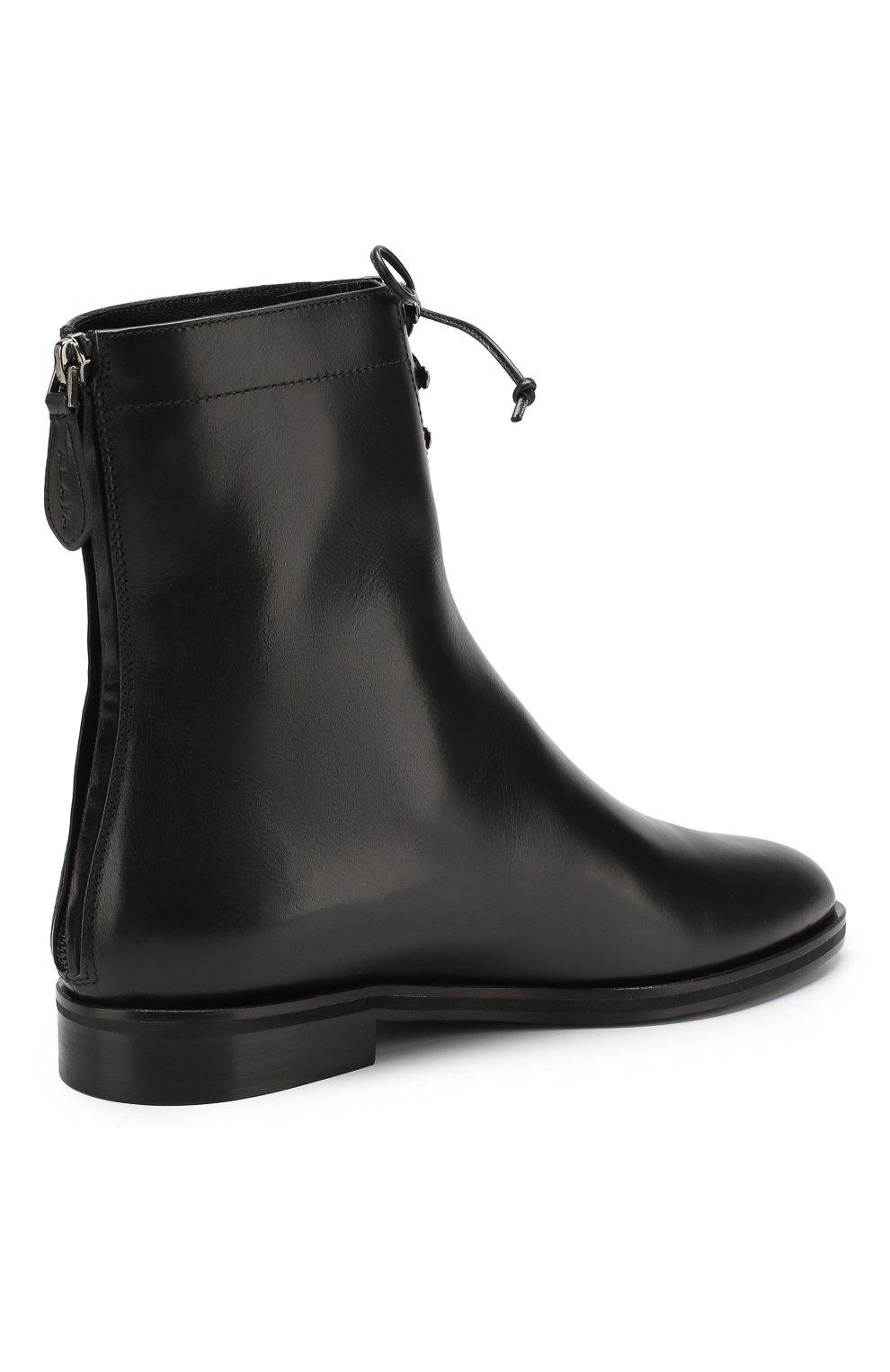 Женские кожаные ботинки ALAIA черного цвета, арт. 9W3T068CL25 | Фото 4