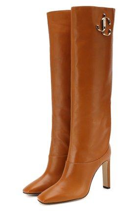 Женские кожаные сапоги mahesa 100 JIMMY CHOO коричневого цвета, арт. MAHESA 100/CLF | Фото 1