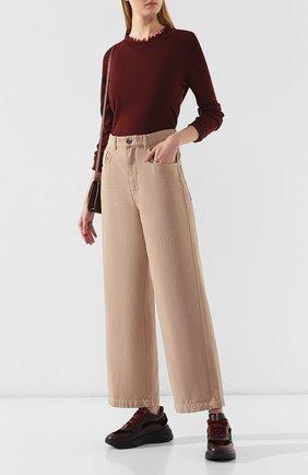 Женские кожаные кроссовки SANTONI бордового цвета, арт. WBB060569NEAPNVSB50 | Фото 2