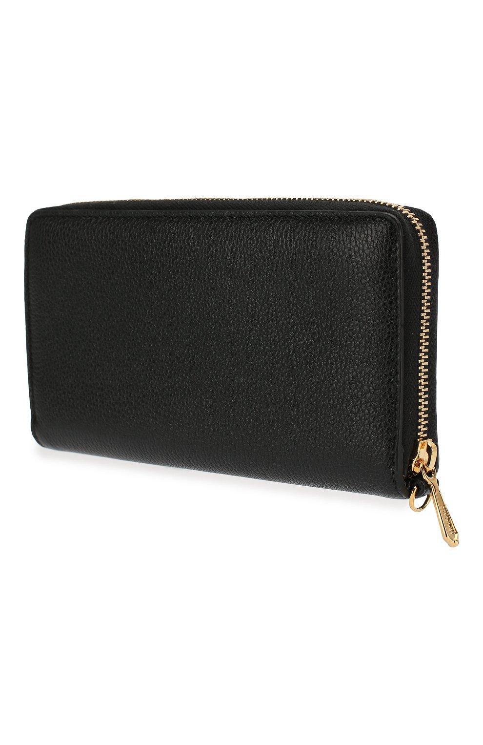 Женские кожаный кошелек gucci zumi GUCCI черного цвета, арт. 574779/1B90X | Фото 2