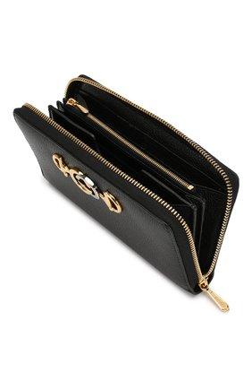 Женские кожаный кошелек gucci zumi GUCCI черного цвета, арт. 574779/1B90X | Фото 3