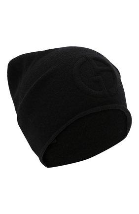 Женский кашемировая шапка GIORGIO ARMANI черного цвета, арт. 797362/9A520 | Фото 1