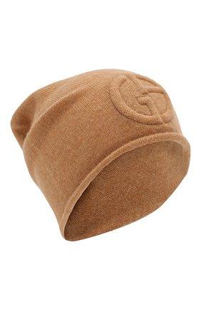 Женский кашемировая шапка GIORGIO ARMANI бежевого цвета, арт. 797362/9A520 | Фото 1
