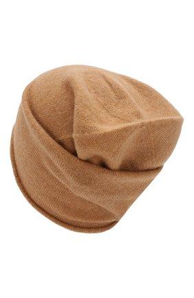 Женский кашемировая шапка GIORGIO ARMANI бежевого цвета, арт. 797362/9A520 | Фото 2