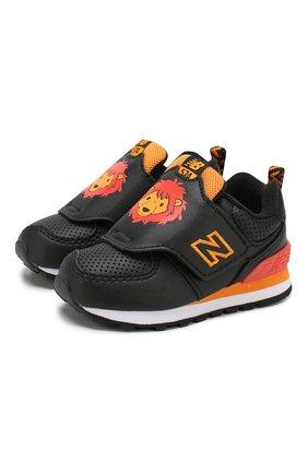 Детские кроссовки 574 NEW BALANCE черного цвета, арт. IV574ZOL/M | Фото 1