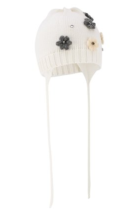 Детского шерстяная шапка IL TRENINO белого цвета, арт. 19 5942/FG | Фото 1