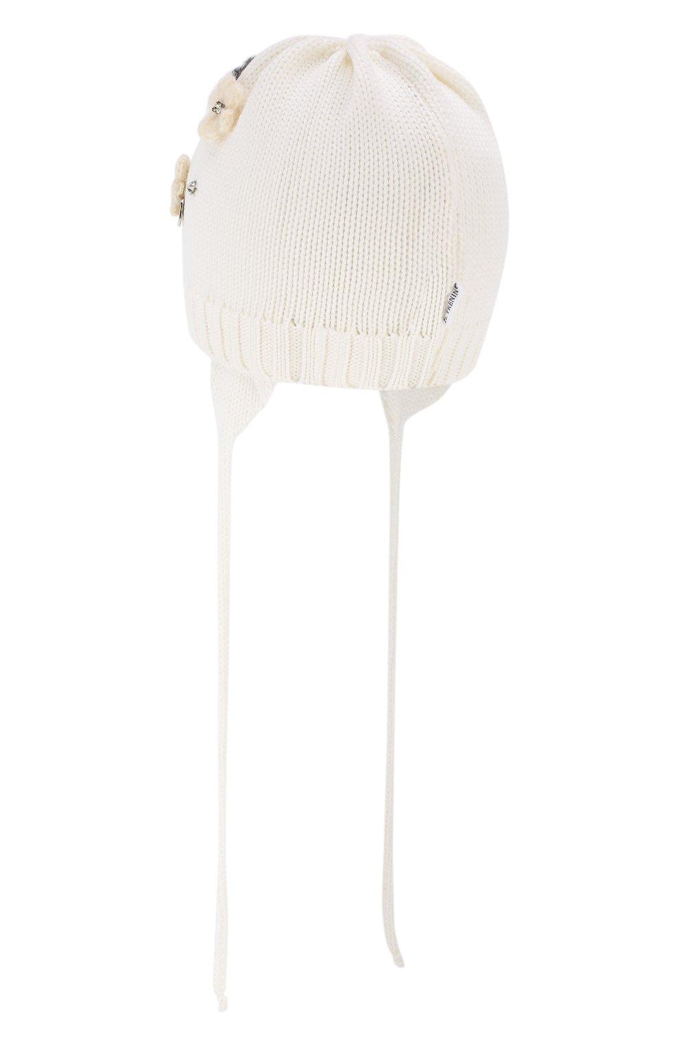 Детского шерстяная шапка IL TRENINO белого цвета, арт. 19 5942/FG | Фото 2