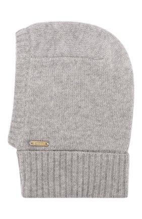 Детского шапка-балаклава из шерсти и кашемира IL TRENINO светло-серого цвета, арт. 18 7529/E2 | Фото 2