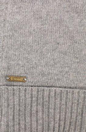 Детского шапка-балаклава из шерсти и кашемира IL TRENINO светло-серого цвета, арт. 18 7529/E2 | Фото 3