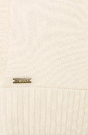 Детского шапка-балаклава из шерсти и кашемира IL TRENINO белого цвета, арт. 18 7529/E2   Фото 3