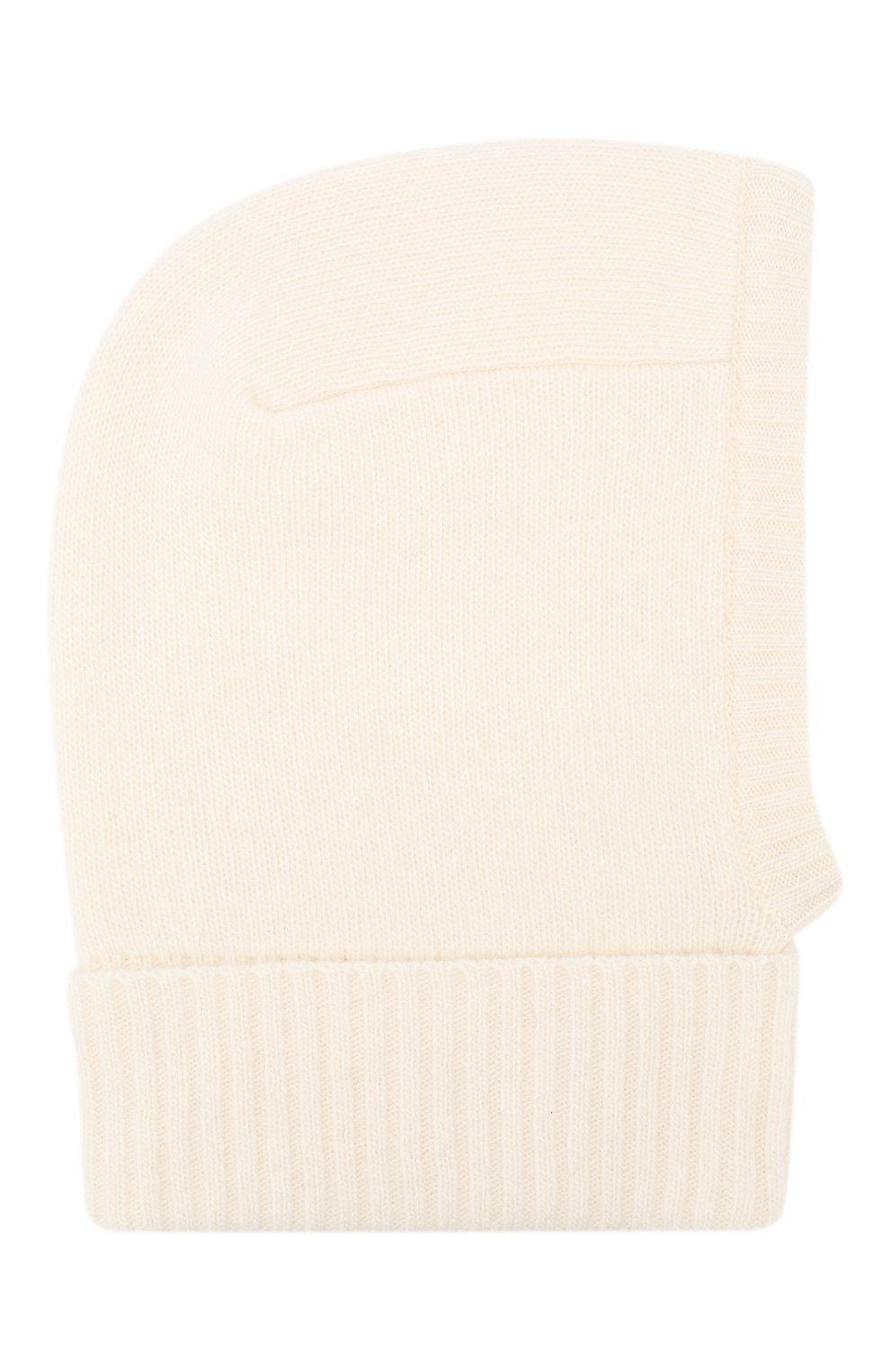 Детского шапка-балаклава из шерсти и кашемира IL TRENINO белого цвета, арт. 18 7529/E0 | Фото 1