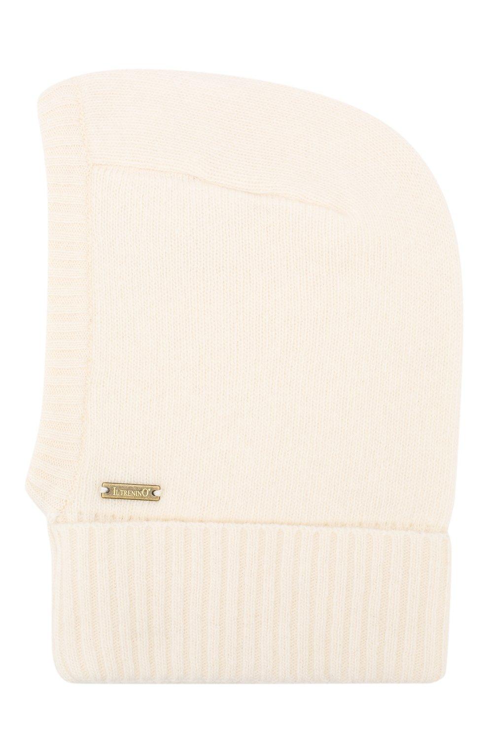 Детского шапка-балаклава из шерсти и кашемира IL TRENINO белого цвета, арт. 18 7529/E0 | Фото 2