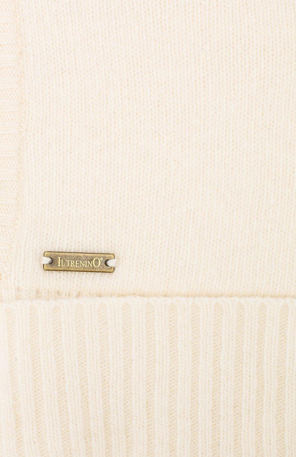 Детского шапка-балаклава из шерсти и кашемира IL TRENINO белого цвета, арт. 18 7529/E0 | Фото 3