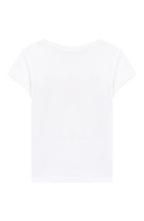 Детская хлопковая футболка POLO RALPH LAUREN белого цвета, арт. 313750814 | Фото 2